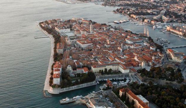 Zadar iz zraka. Poluotok. Foto: Dino Stanin/PIXSELL