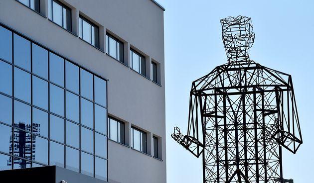 Svečano otkrivanje skulpture varaždinskog umjetnika Nikole Vudraga 'Tesla Powerline'