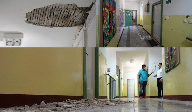 Škola, Vrpolje, potres