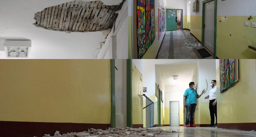 Zbog potresa se u školi u Vrpolju urušio strop, a u učionicama popucali zidovi: 'Ne želimo stvarati paniku, nastava ide dalje'