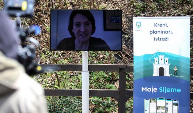 Jelenu Pavilić Vukičević ni korona nije spriječila da bude na predstavljanju mobilne aplikacija grada Zagreba pod nazivom Moje Sljeme