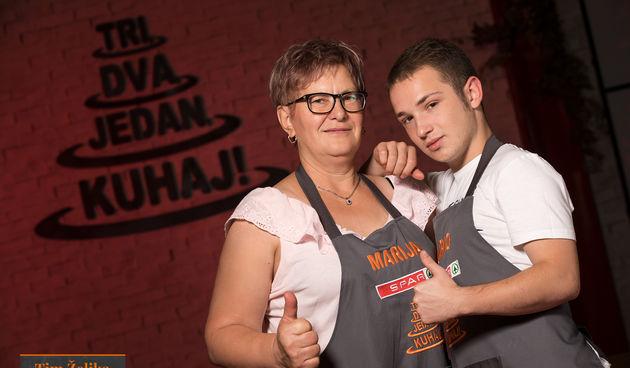 Dario Oreški (19) i Marija Benjak (60)