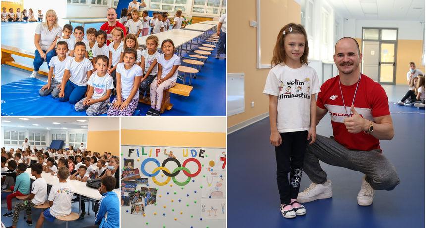 FOTO Filip Ude povodom Hrvatskog olimpijskog dana posjetio OŠ Vladimira Nazora Pribislavec