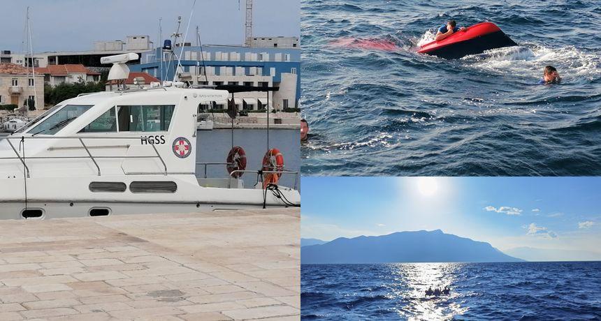 Nesreća na moru: Gliser s četvero ljudi prevrnuo se u moru između Brača i Omiša
