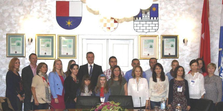 FOTO: Gradonačelnik primio sudionike projekta Erasmus