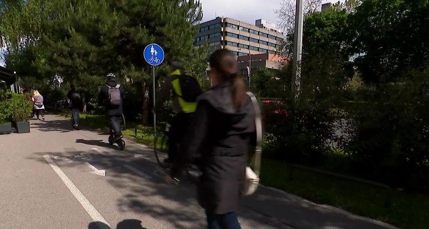 Pješaci u strahu od sve više biciklista i romobila, oni ljuti jer nema staza, policija priprema novi zakon. Potraga istražuje kako riješiti sve veći kaos u prometu