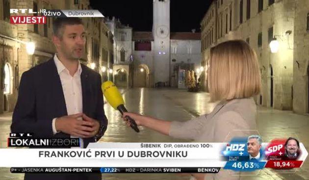 Kandidat za gradonačelnika Dubrovnika Mato Franković: 'Nisam očekivao veliku razliku u glasovanju' (thumbnail)