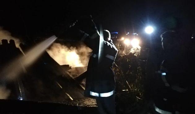 Orehovica, požar