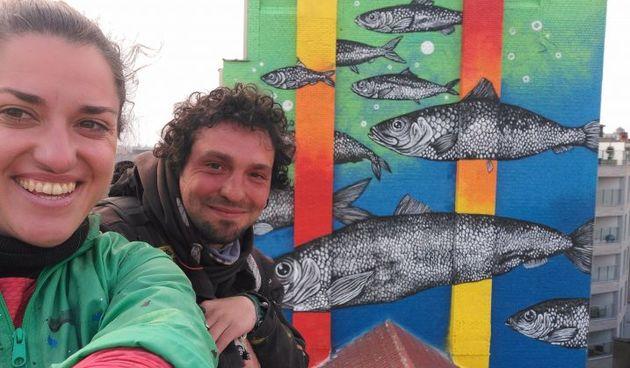 Riječka umjetnica oslikala mural u Bruxellesu