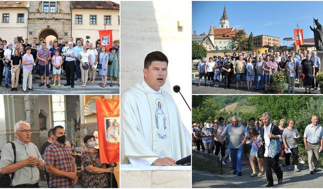 Vjernici iz župa preloškog dekanata na zavjetnom hodočašću u Mariju Bistricu