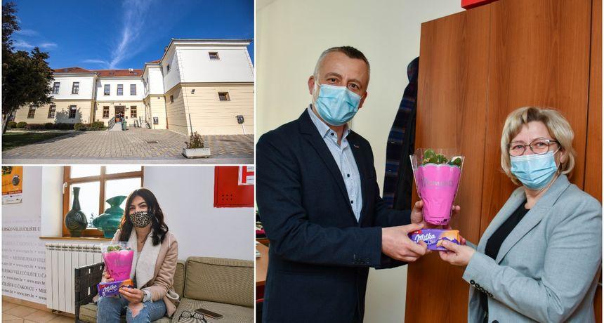 LIJEPA GESTA Međimursko veleučilište u Čakovcu prigodnim znakom pažnje obilježilo Dan žena