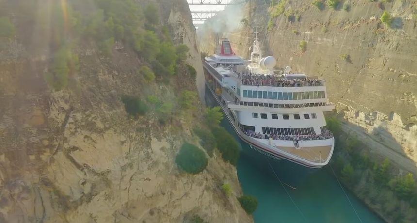 Dubrovački kapetan upravljao najdužim brodom koji je prošao Korintskim kanalom