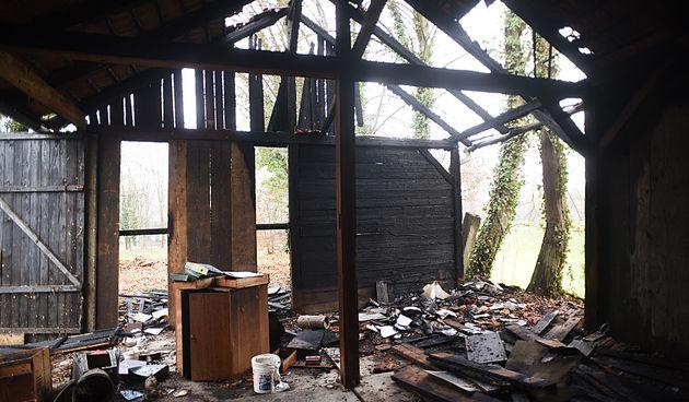 Garaže kod Bosanskog magazina nakon požara 13. prosinca 2020.