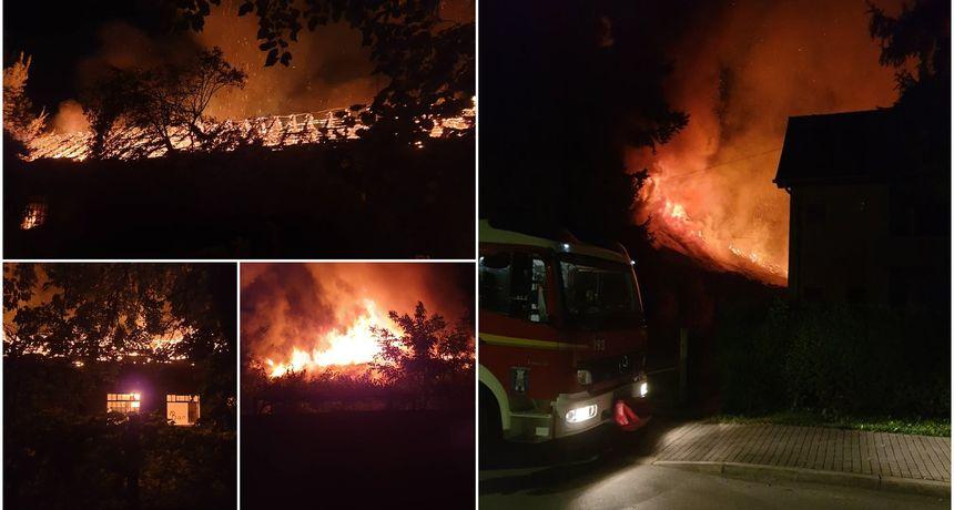 VIDEO I FOTO Veliki požar u samom centru Preloga, gori bivše skladište