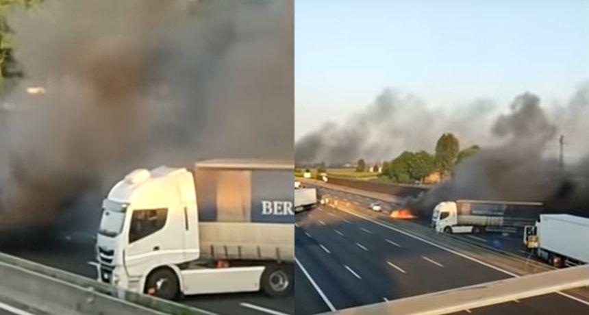 Gotovo filmski pokušaj pljačke na autocesti u Italiji: Razbojnici su zapalili auto i pucali iz kalašnjikova
