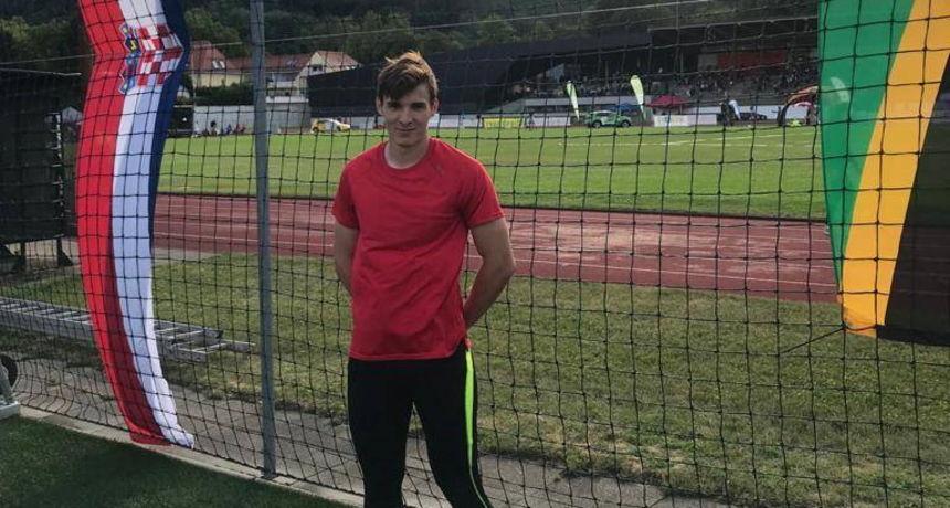 ODLIČAN REZULTAT Atletičar Karlo Marciuš treći na mitingu u Grazu