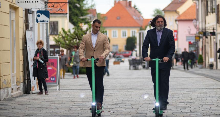 U Varaždinu od danas dostupni električni romobili, evo o čemu je riječ