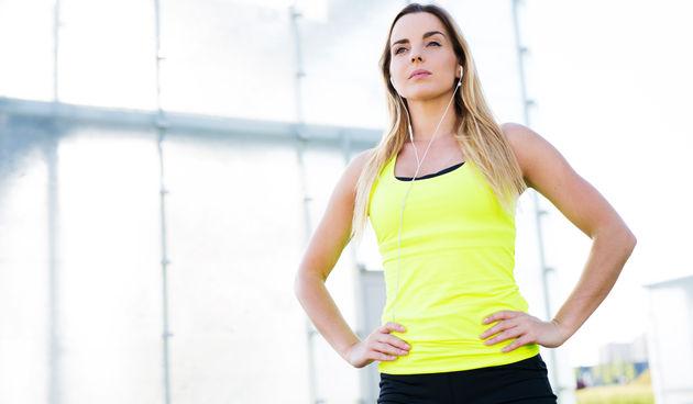 žena, vježbanje, trening