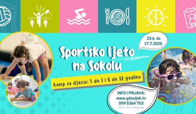 Sportsko ljeto na Sokolu 2020. - Upisi u tijeku!