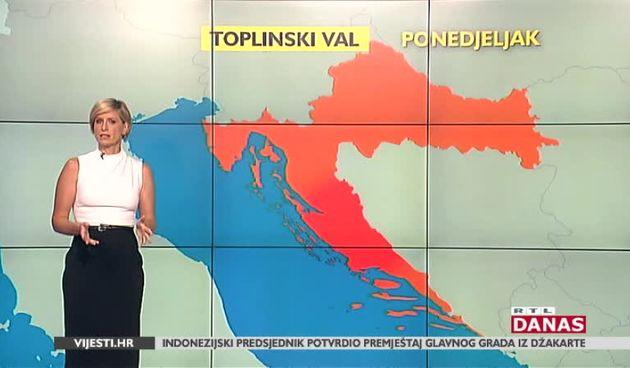 Počeo je vrhunac toplinskog vala: Pogledajte kakvo nas vrijeme očekuje (thumbnail)