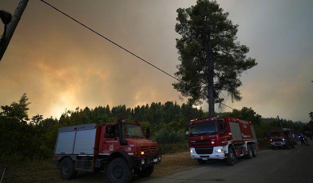 Vatrena stihija je uništila šume na otoku Evija