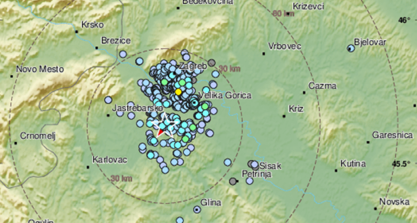 Potres magnitude 2,7 prema Richteru pokraj Zagreba: 'Jak zvuk i tresak. Već dugo nismo tako skočili'