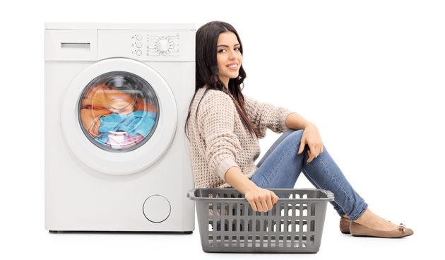 pranje rublja, žena, perilica, kućanski poslovi
