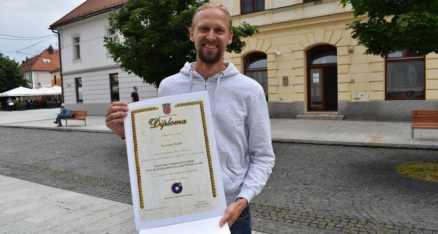 POVRATNIK IZ NJEMAČKE Kristijan Burjek iz Svetog Martina: Odsad sam majstor s diplomom!