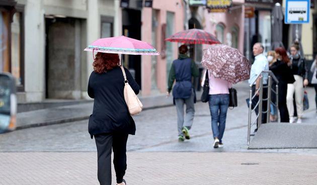 Kiša, Zagreb