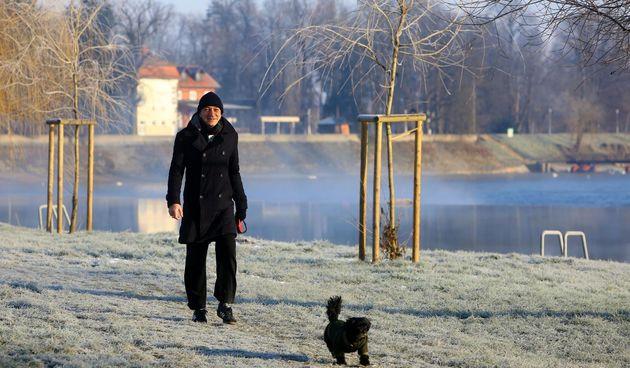 FOTO GALERIJA Jutro na Korani, Karlovac u debelom minusu - 19. siječanj 2021. Foto Kristina Štedul Fabac/PIXELL