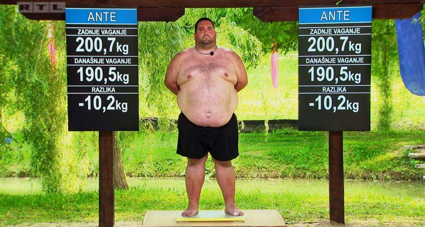 Ante skinuo fantastičnih 10,2 kg u prvom tjednu boravka u 'Životu na vagi'
