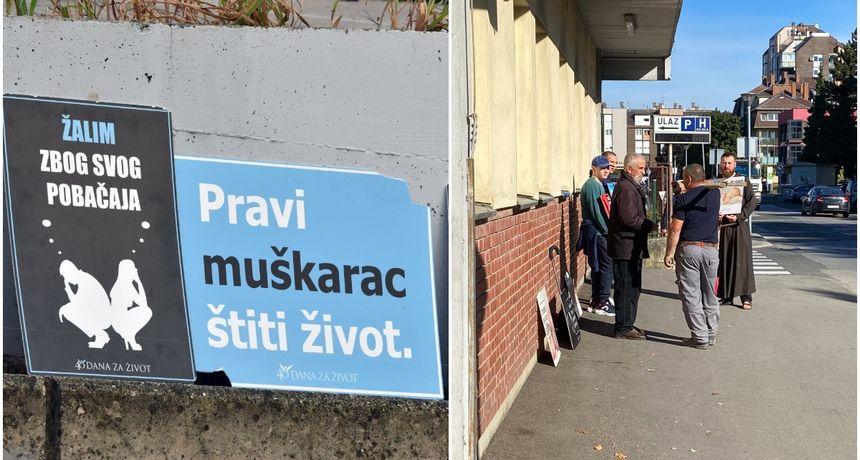 Molitelji ponovno ispred varaždinske bolnice: Mole protiv pobačaja, tamo ostaju do 31. listopada