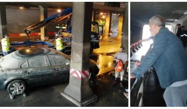 Vatrogasci u akciji: Izvlačili potopljeni automobil ispod podvožnjaka. Sve nadgledao Bandić
