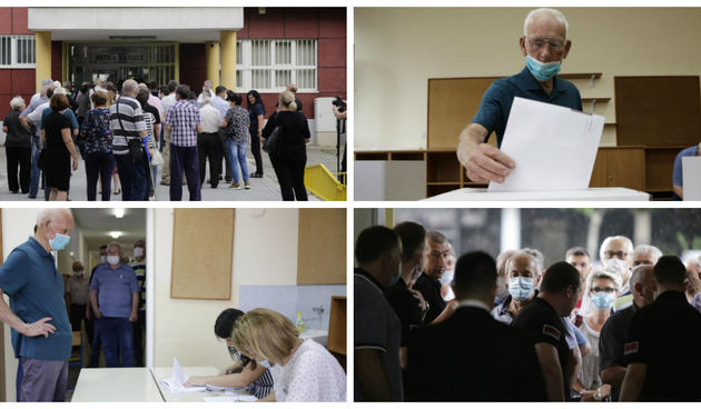 Gužva na otvorenju birališta u Mostaru za parlamentarne izbore u Republici Hrvatskoj