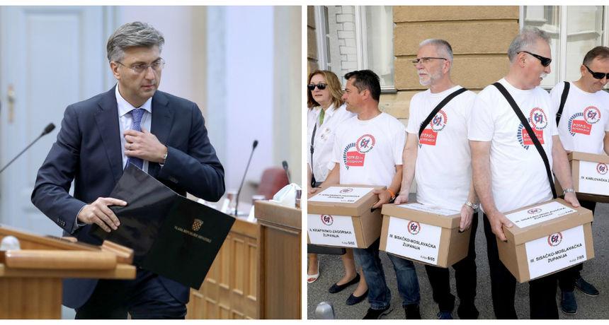 Plenković iznenadio na početku sjednice Vlade: 'Prihvaćamo sve zahtjeve inicijative '67 je previše''