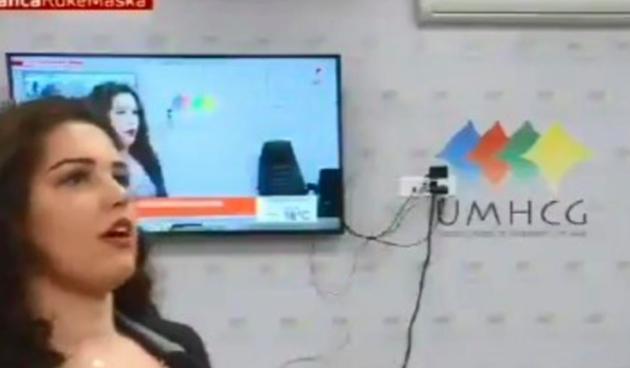Nesvakidašnja scena na crnogorskoj televiziji: Žena se javljala uživo i pala u nesvijest