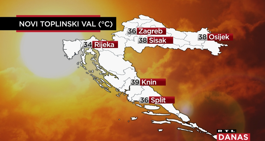 Izdan crveni meteoalarm za sutra: RTL-ova meteorologinja otkriva vam u kojim gradovima Hrvatske će biti najgore