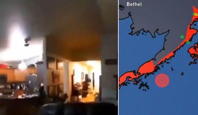 VIDEO Iznimno jak potres magnitude 8.2 na Aljasci - zastrašujuće snimke na mrežama: Evo kako izgleda potres od 8,2 po Richteru