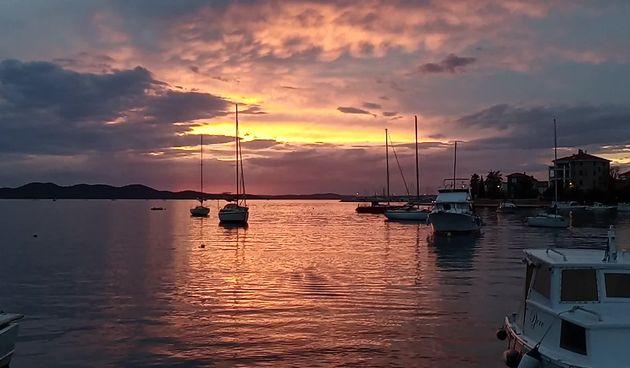 Grimizni zalazak sunca @ Uvala Draženica (thumbnail)