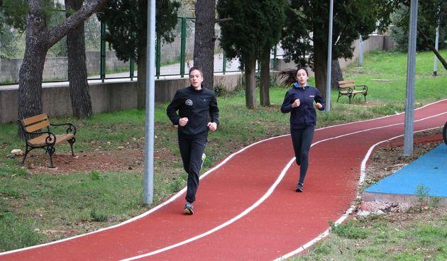 fitness, vježbanje, trčanje, sc višnjik ilustracija