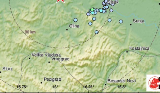 Dva manja potresa probudila građane središnje Hrvatske: 'Bome se osjetio, zadrmao krevet'