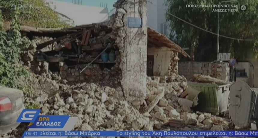 VIDEO Stižu snimke: Pogledajte kako je izgledao udar od 6,0 po Richteru u Grčkoj! Na jednu osobu je pao zvonik crkve