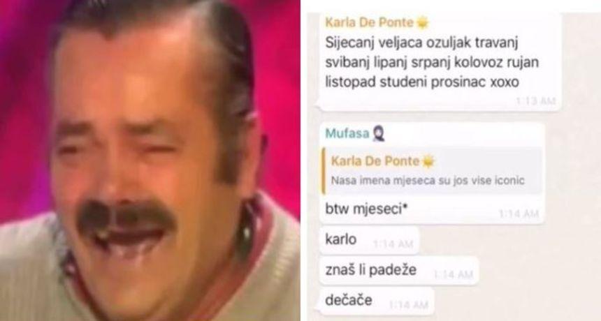 Nije se mogao suzdržati od smijeha: Snimka momka iz Srbije koji čita hrvatske padeže postala hit