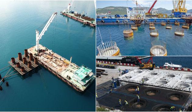 Pogledajte spektakularne fotografije: Pelješki most nakon godinu dana 'izronio' iz mora!