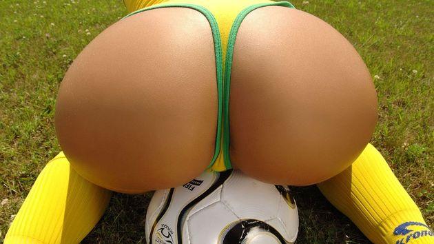 Tange nogomet lopta guzica
