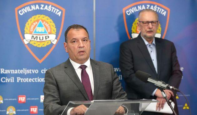 Vili Beroš i Davor Božinović - Stožer
