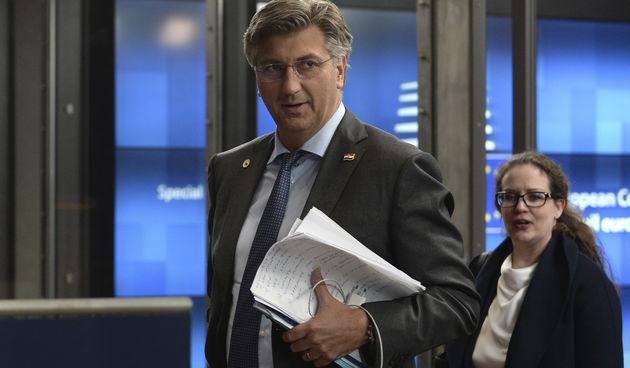 Andrej Plenković na summitu u Bruxellesu