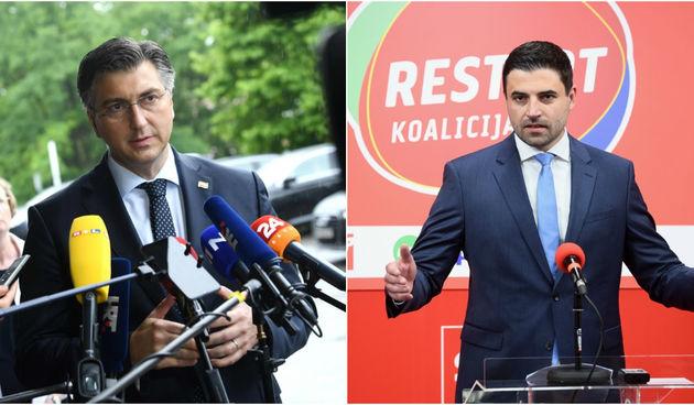 Andrej Plenković i Davor Bernardić