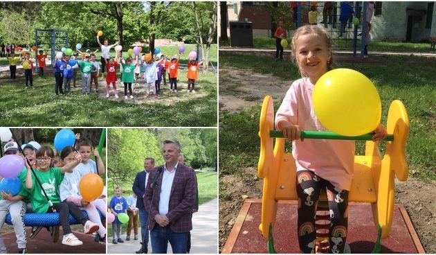 VIDEO I FOTO Otvoreno novo dječje igralište u Perivoju Zrinskih