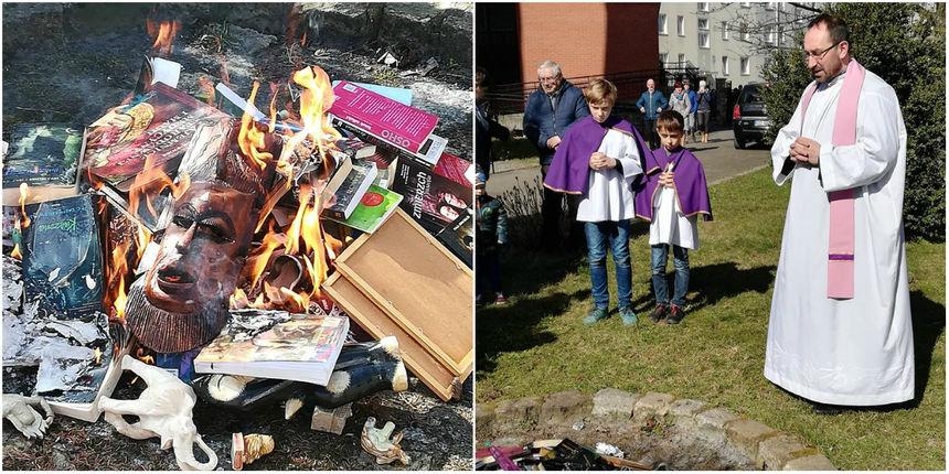 Pogledajte ovu ludost! Svećenici palili 'knjige za grešnike': U plamenu nestao Harry Potter...